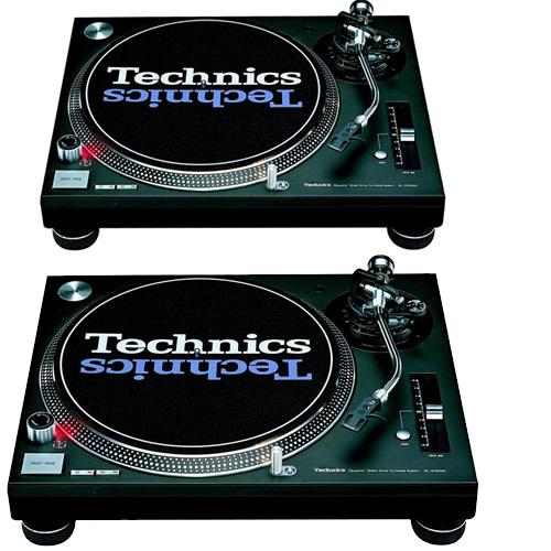 2 x Technics SL1210 Mk2 or Mk5