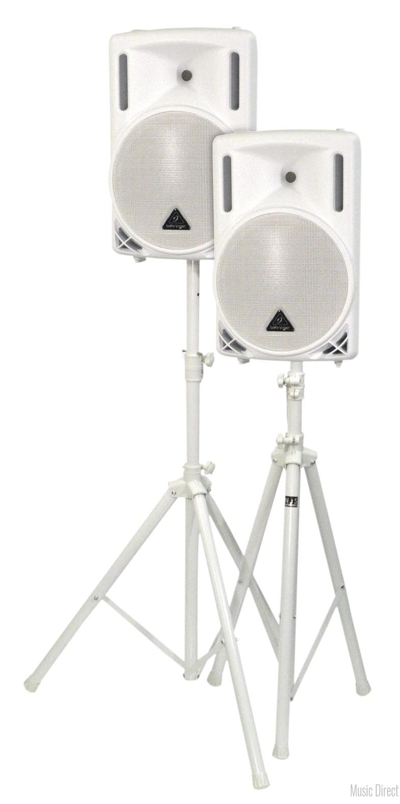 2 x Behringer 10 inch speaker white