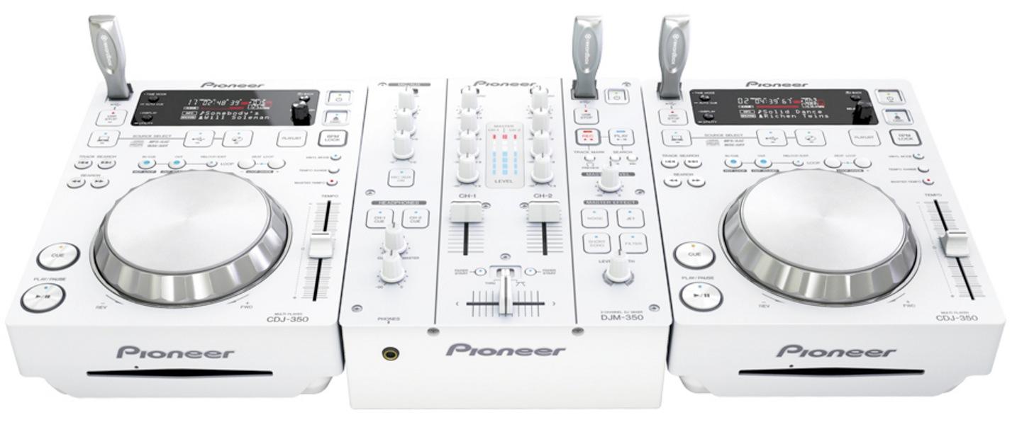 2 x Pioneer CDJ350 + DJM350 white