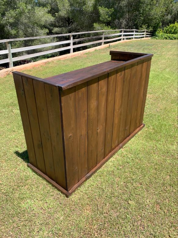 DJ Booth - Rustic look wooden